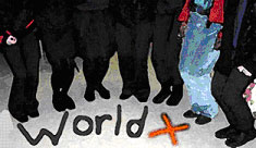 WorldX - a collaboration between school students in New Zealand and the UK, 2004.